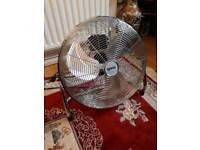 "Igenix chrome 18"" floor standing cooling electric fan 115rrp"