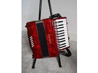 Scarlatti 12 bass accordion with flight case, immaculate condition