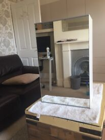 Well cared for bathroom wall cabinet with mirrored front and internal shelves