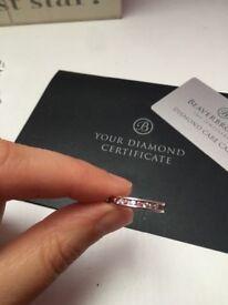 💕Beautiful diamond and pink sapphire eternity ring 💕