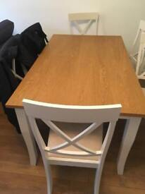 Table - seats 6, new with corner knocked