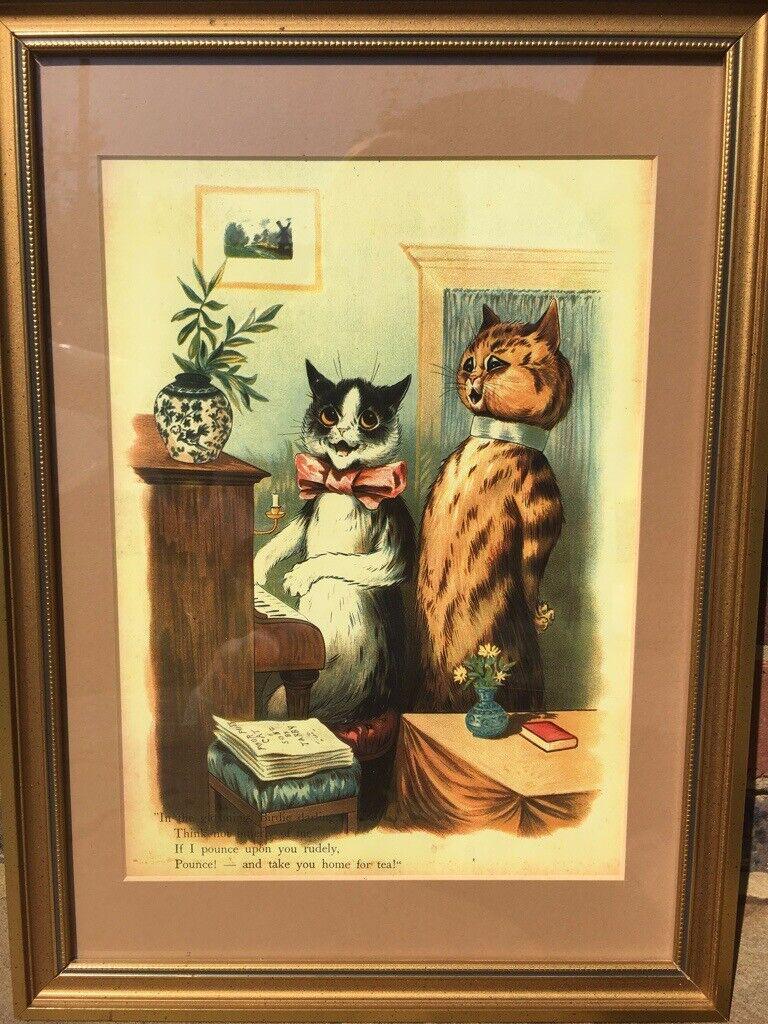 2e118015a68 Framed print by Louis Wain