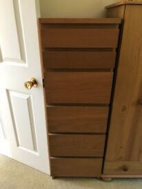 Chest of Drawers with enclosed mirror in top unit