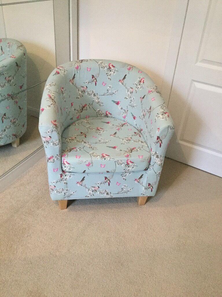 dunelm beautiful birds collection tub chair | in barrhead, glasgow