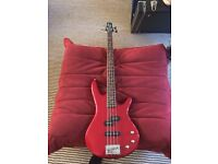 Red Ibanez bass guitar!