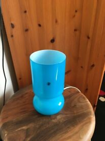Ikea Lykta Table Lamp Blue Height 24cm PAT Tested NG9