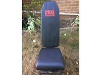 Pro Power Exercise bench with Barbell weights.