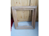 solid oak vintage picture frame , very chunky and distressed