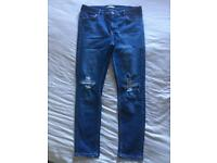 3 pairs topshop maternity jeans size 12