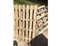 5 wooden pallets