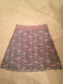 White Stuff knee length lined winter skirt