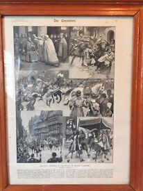 """5 original pages of THE ILLUSTRATED LONDON NEWS """"THE CORONATION"""" £30 TOGETHER"""