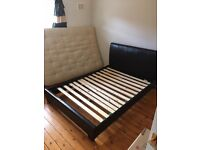 Double leather bedstead. Excellent condition one year old.
