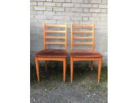 MIDCENTURY PAIR CHAIRS FREE DELIVERY RETRO VINTAGE DANISH🇬🇧
