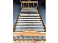 Two single pine beds in very good condition (can be used as bunk beds)