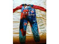 New with tags 7-8 years boys spiderman onesie