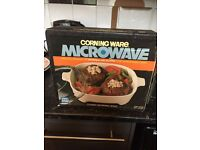 Corning Ware Microwave Covered Browning Skillet (Never Used)
