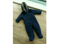 Baby Snowsuit 9-12 months Asda George Never Worn