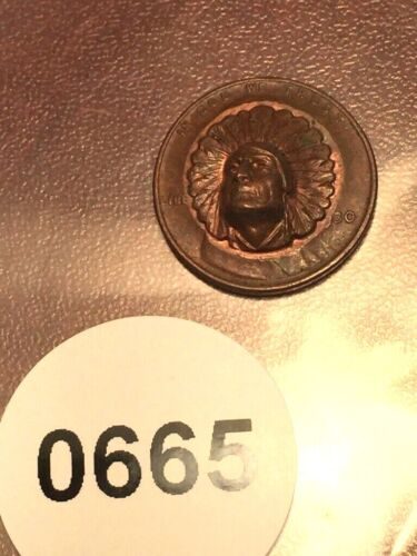 Vintage 1930 Lincoln Wheat Penny Repousse Coin with Indian Head