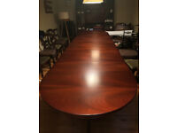 13 foot, 5 section, tri pedestal, georgian reproduction dining table