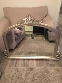 Vintage Mantle Mirror. Champagne.