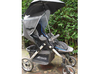 Hauck Apollo 3 in 1 travel system: pram, car seat 0m+/carrycot, stroller