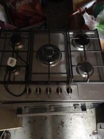 Indesit electric oven and baumatic 5 ring hob
