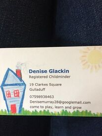 Registered childminder available in gulladuff/maghera/bellaghy