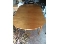 Teak family dining table and 4 chairs