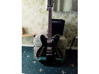 stagg guitar with amp