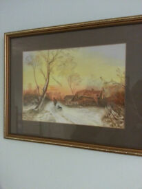 Framed and glazed orginal painting, signed by Pauline Oliver