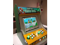 Mario Theme Painted Bartop Arcade Machine