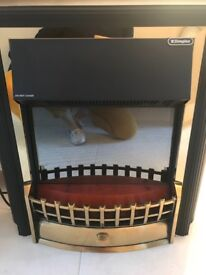 Dimplex Electric Fire - black and brass with real coals