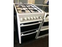 White beko 50cm gas cooker grill & ovens good condition with guarantee
