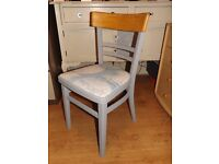 Vintage Retro up-cycled wooden kitchen dining chair