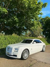 Rolls Royce Phantom / Ghost Hire London £295 / Wedding Car Hire London / limo hire london
