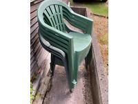 Garden chairs x 7