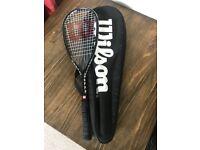 Wilson Hammer 160 squash racket and black bag