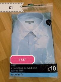 "Mens shirt £1 17.5"""