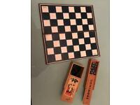 Chess set and set of dominoes