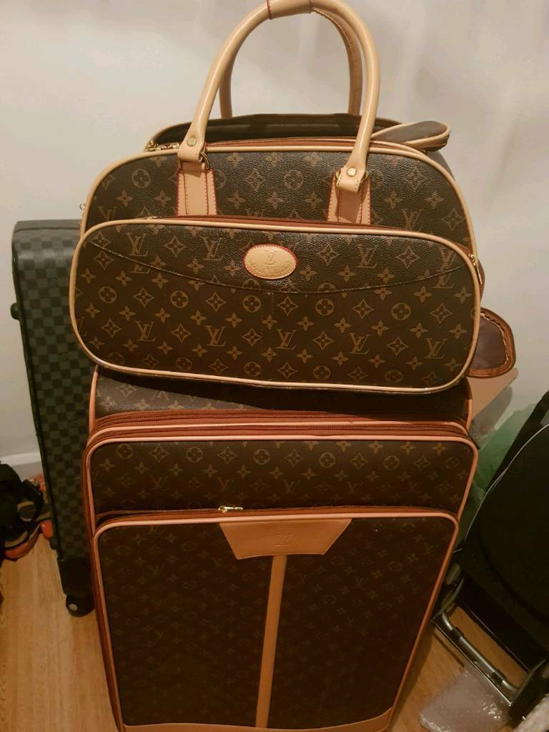 8495ae49e14c Louis vuitton lv brown luggage suitcase set with hand luggage monogram  brand new