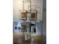 Gold Metal Candle Holder Gothic by Hill Interiors