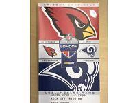 2, 4 or 6 near halfway line tickets for NFL Arizona Cardinals vs LA Rams (at Twickenham) - £70 each