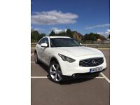 Infiniti FX SUV 3.0 TD GT 5dr White Under Warranty