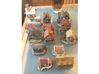 Collectible David Winter Lilliput Lane cottages vgc inc Scrooges counting house