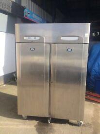 Commercial Double Door Fridge Chiller Cooler For Shop Cafe Restaurant Bakery Deli Fridge
