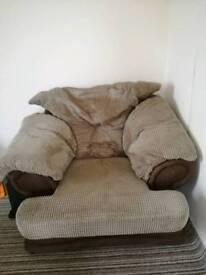 Fluffy armchair