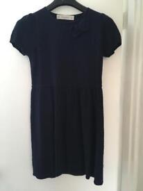 Navy knitted Zara dress. Size 14