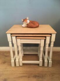 Solid Wood Nest Table Set