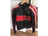 Alpinestars Leather armoured motorbike jacket size 46 small/medium